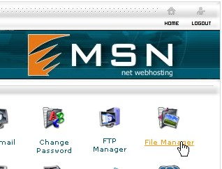 Site Control Panel > Click on File Manager Icon
